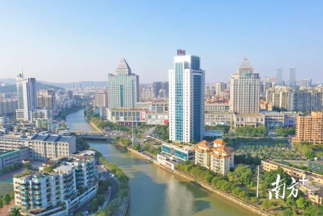 江门城市景色。  资料图片