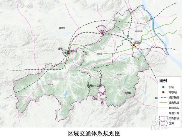 区域交通体系规划图。图片来自《规划》