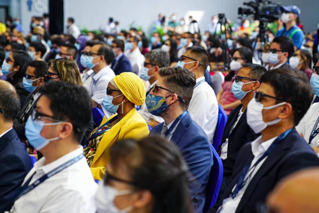 2021广东文旅推介大会上,3D版广东文旅宣传片令国内外宾客眼前一亮。 南方+ 张迪 拍摄