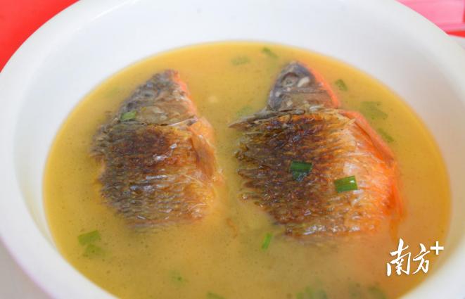 黄金鱼汤。黄津 摄