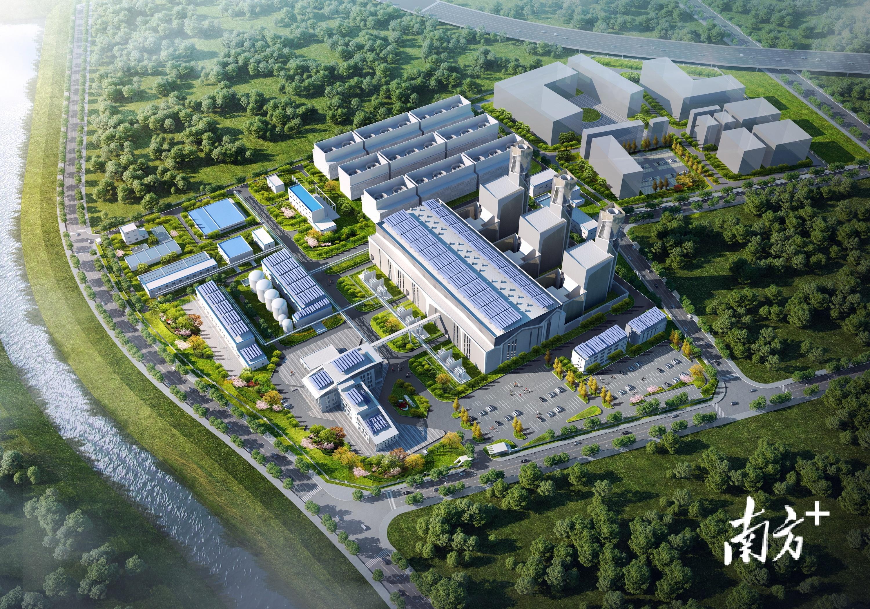 东莞宁洲厂址替代电源项目效果图。  通讯员/受访者 虎宣 供图