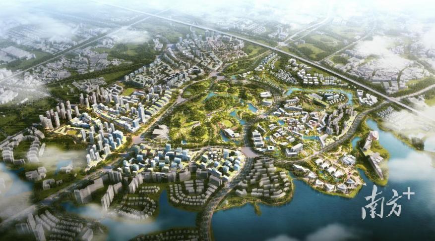 松山湖中心区规划效果图