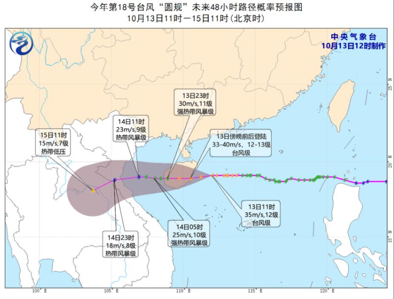 """台风""""圆规""""路径。"""